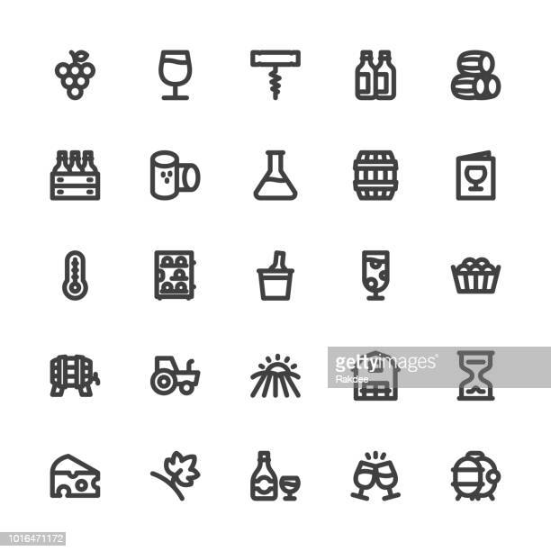 Winery Icons - Bold Line Series