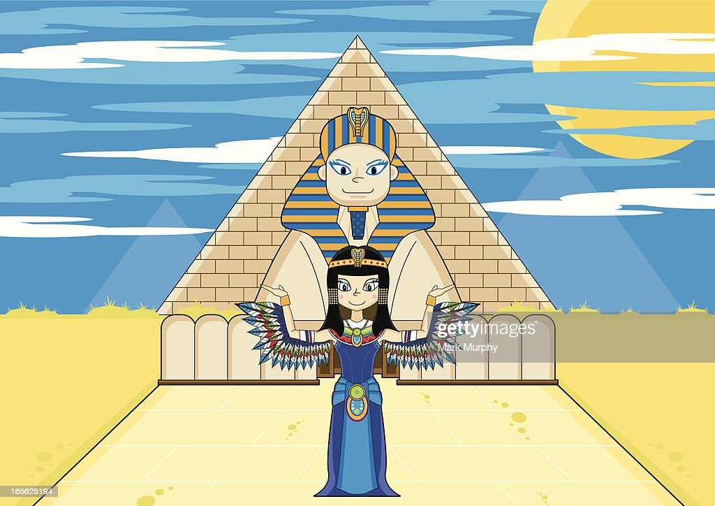 Winged Cleopatra with Sphinx & Pyramid