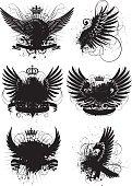 Winged grunge design