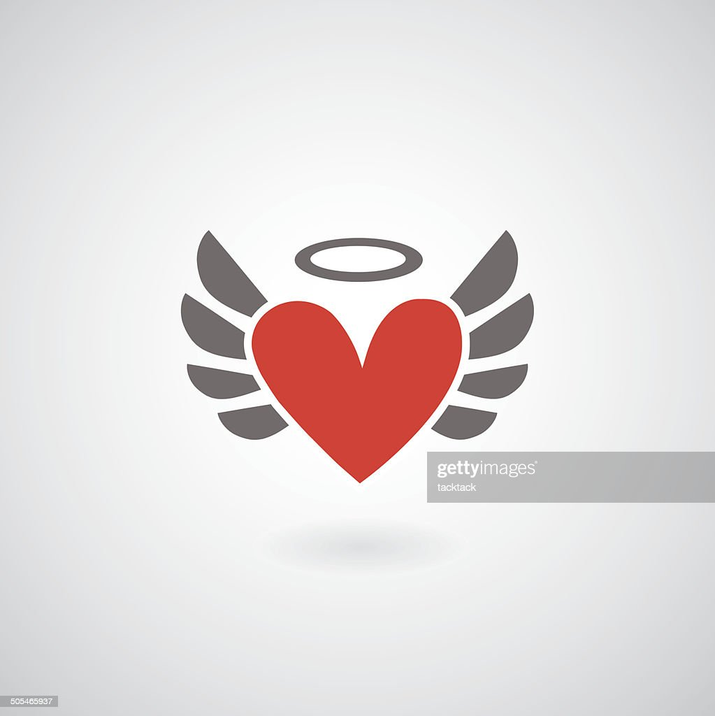 Winged heart symbol