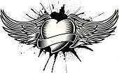 winged heart tatoo