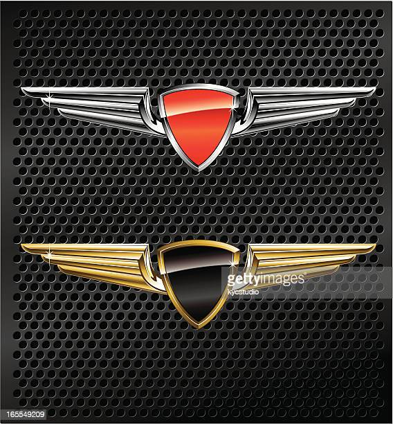 Winged Metallic Emblems