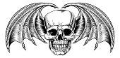 Winged Skull Grim Reaper