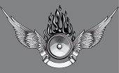 Winged speaker