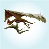 wingless dinosaur monster bird sky diving