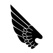 wings emblem isolated icon