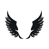 Wings icon in simple style