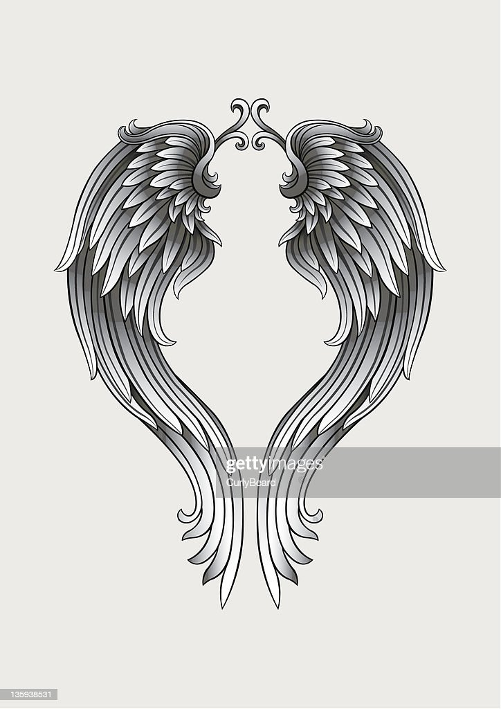 Alas de angel : Ilustración de stock