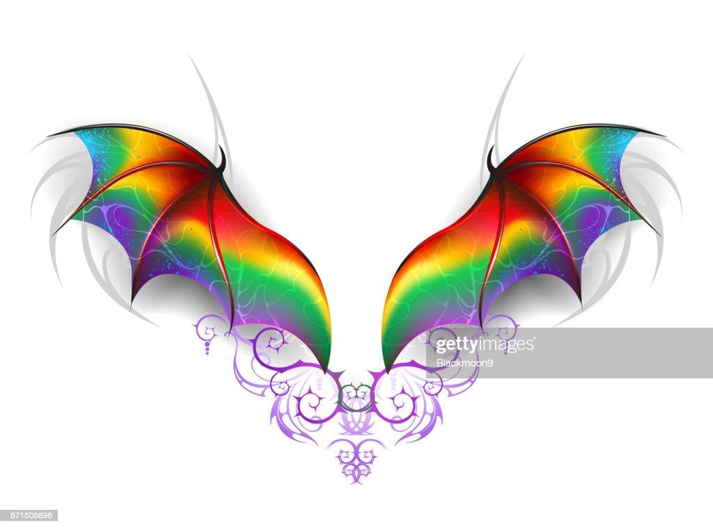 Wings of rainbow dragon