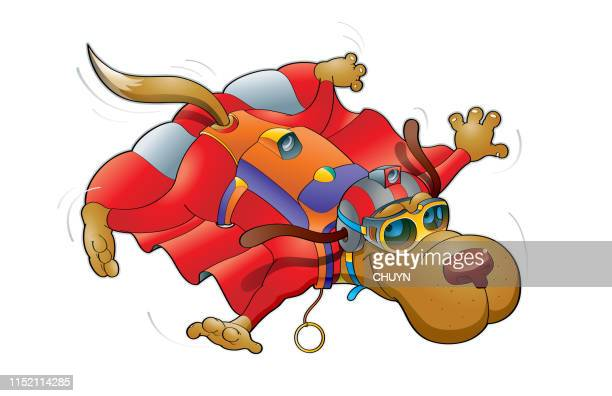 wingsuit skydiving - paratrooper stock illustrations, clip art, cartoons, & icons