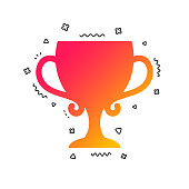Winner cup sign icon. Awarding of winners. Vector