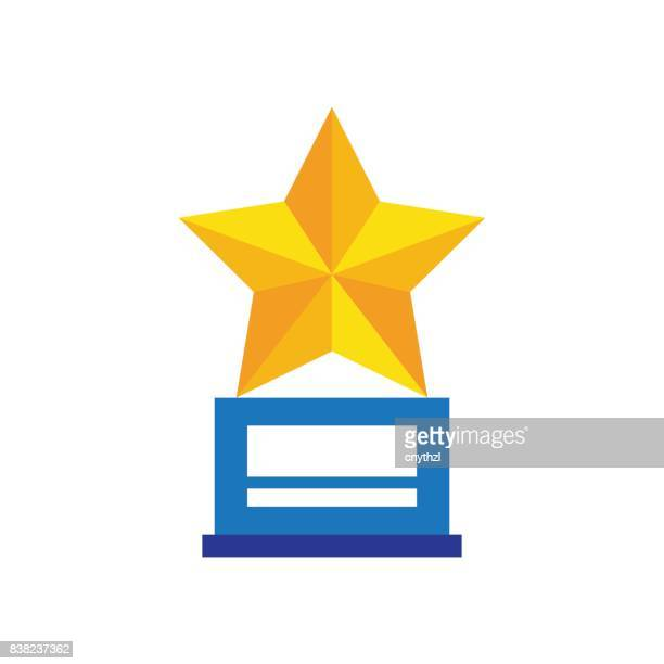 winner trophy award - competitive sport stock illustrations, clip art, cartoons, & icons
