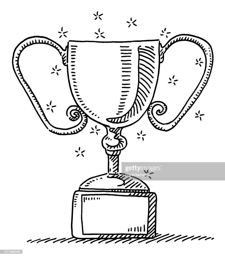 Sieger Trophäe Symbol Zeichnung : Vektorgrafik