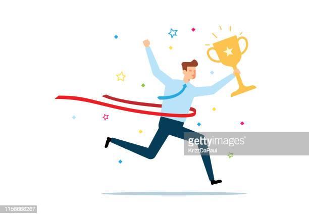 winner - finishing line stock illustrations