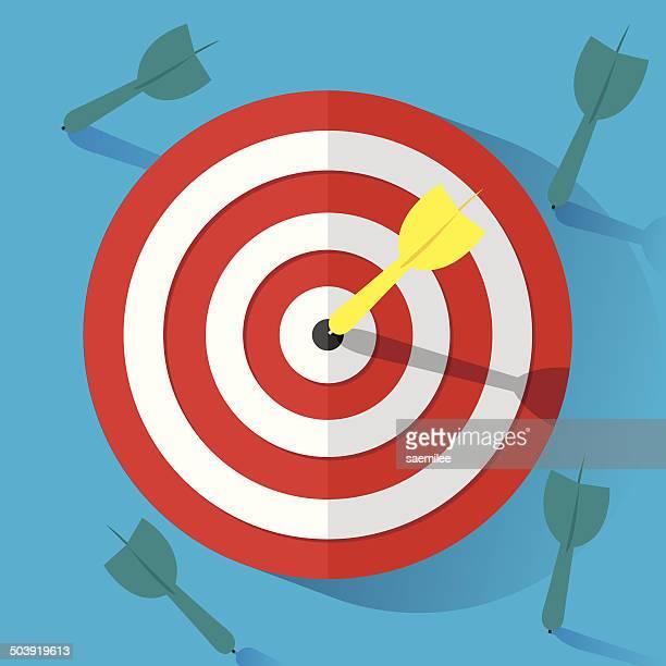 winner - dart stock illustrations, clip art, cartoons, & icons