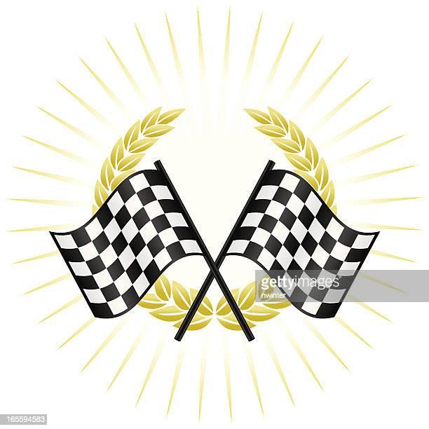 winners circle - formula one racing stock illustrations, clip art, cartoons, & icons