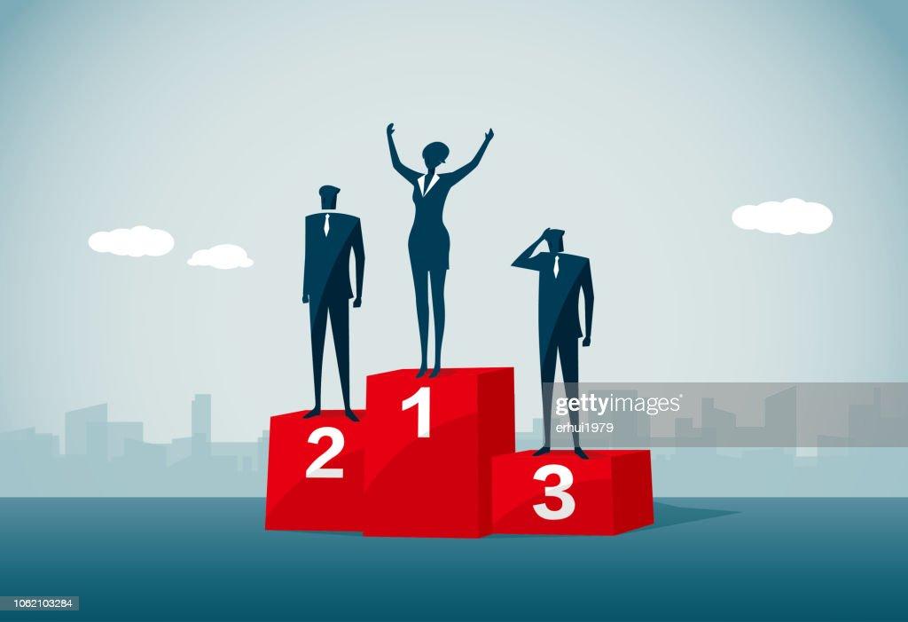 winners podium : stock illustration