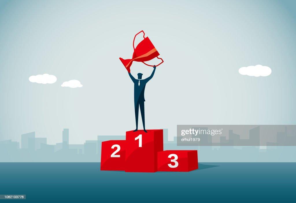 Gewinner-podium : Stock-Illustration