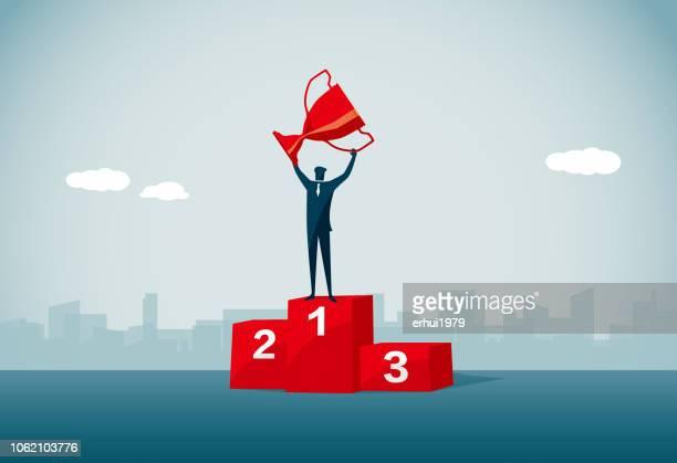 gewinner-podium - sportchampion stock-grafiken, -clipart, -cartoons und -symbole