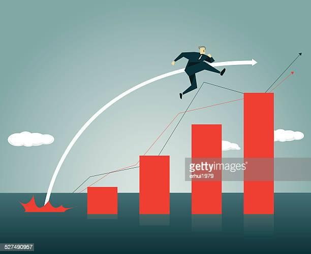 winning, bar graph, stock market,high jump,high, jumping - high jump stock illustrations