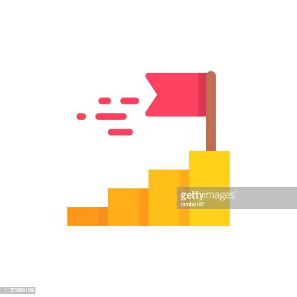 illustrazioni stock, clip art, cartoni animati e icone di tendenza di icona piatta vincente. pixel perfetto. per dispositivi mobili e web. - rivalità