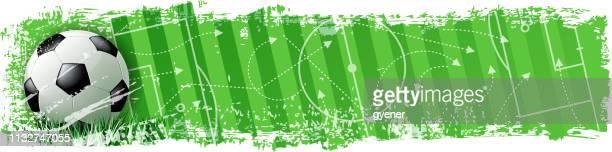 winning soccer banner - football stock illustrations