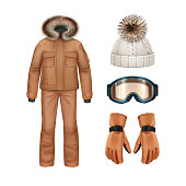 Winter apparel set
