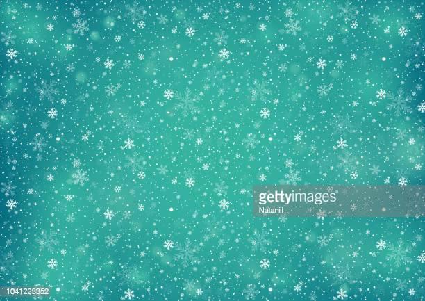 冬の背景 - ターコイズカラーの背景点のイラスト素材/クリップアート素材/マンガ素材/アイコン素材
