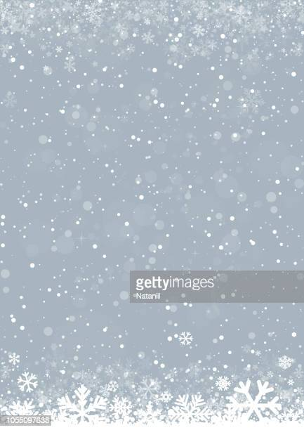 stockillustraties, clipart, cartoons en iconen met winter achtergrond - sneeuwvlok