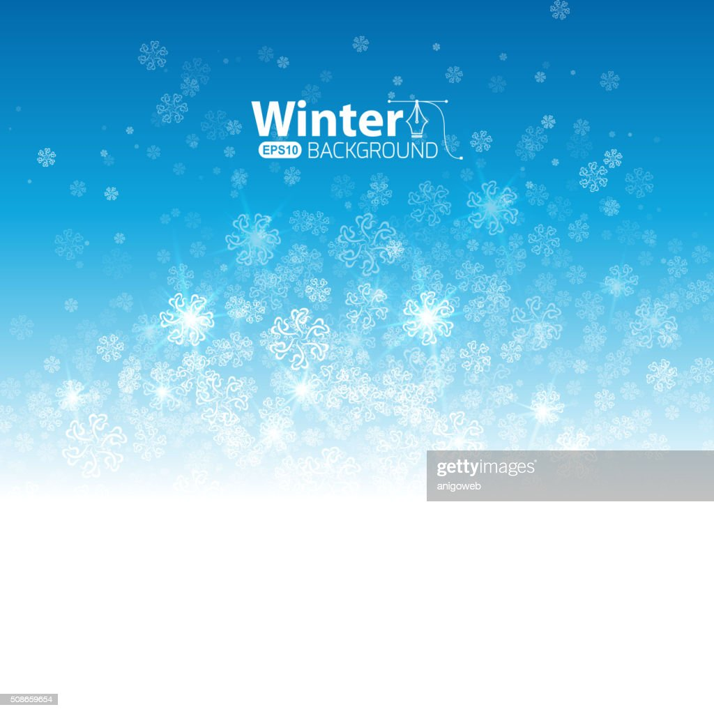 Winter background : Vector Art