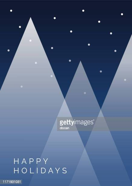 winter background with christmas trees. - vacations stock illustrations
