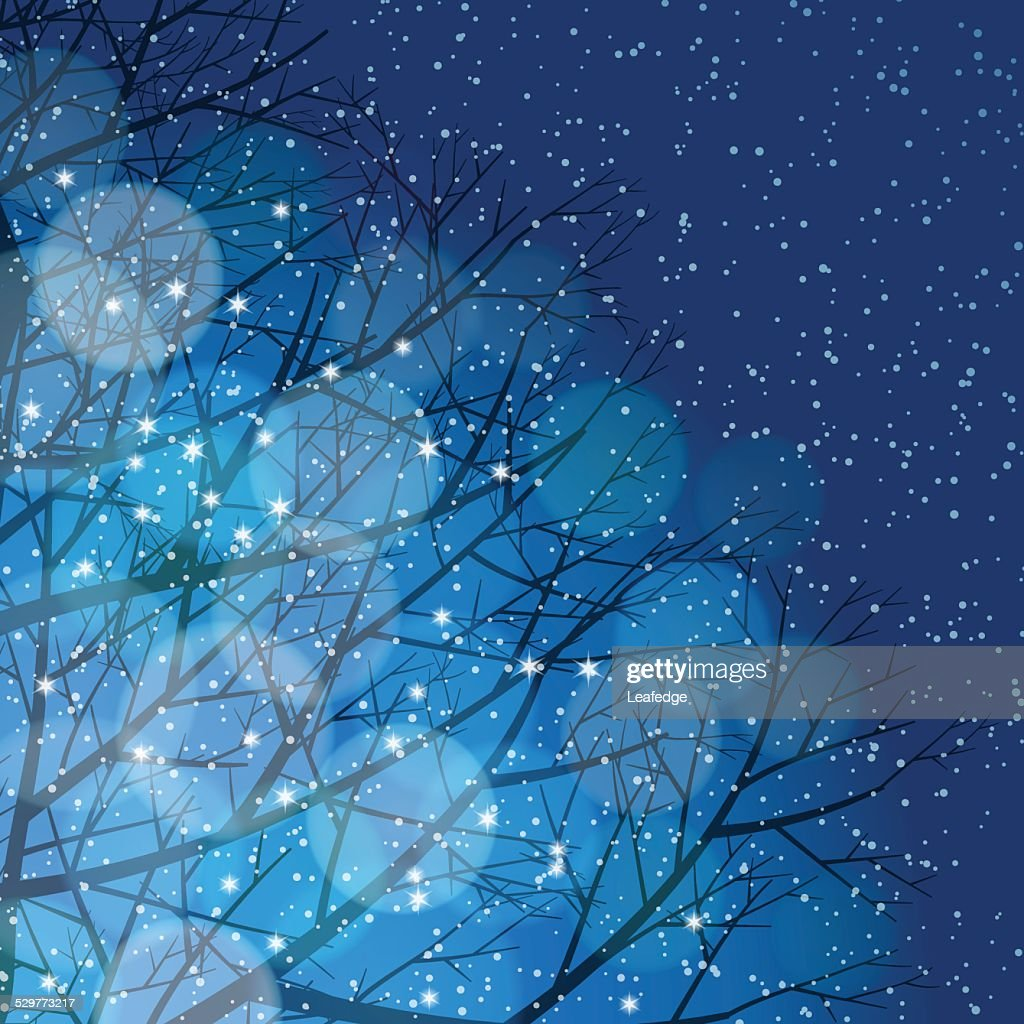 Winter background[Illumination and snow]