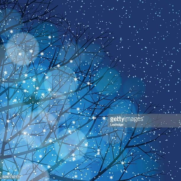 Winter Hintergrund [ Beleuchtung und Schnee ]