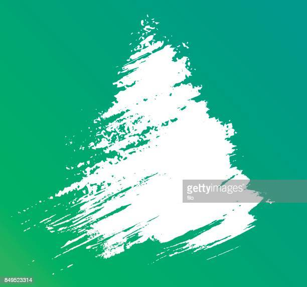winter brushed tree abstract - national holiday stock illustrations, clip art, cartoons, & icons