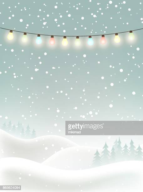 winter christmas background - vertical stock illustrations