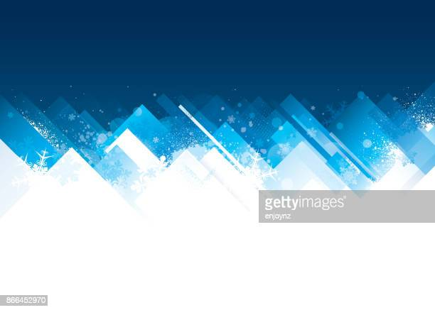 winter christmas background - temperature stock illustrations