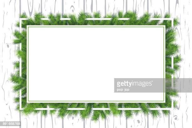winter weihnachten filialen horizontale hintergrund - vektor - gewerbegebiet stock-grafiken, -clipart, -cartoons und -symbole