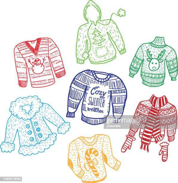 Winter Christmas Knitted sweaters set