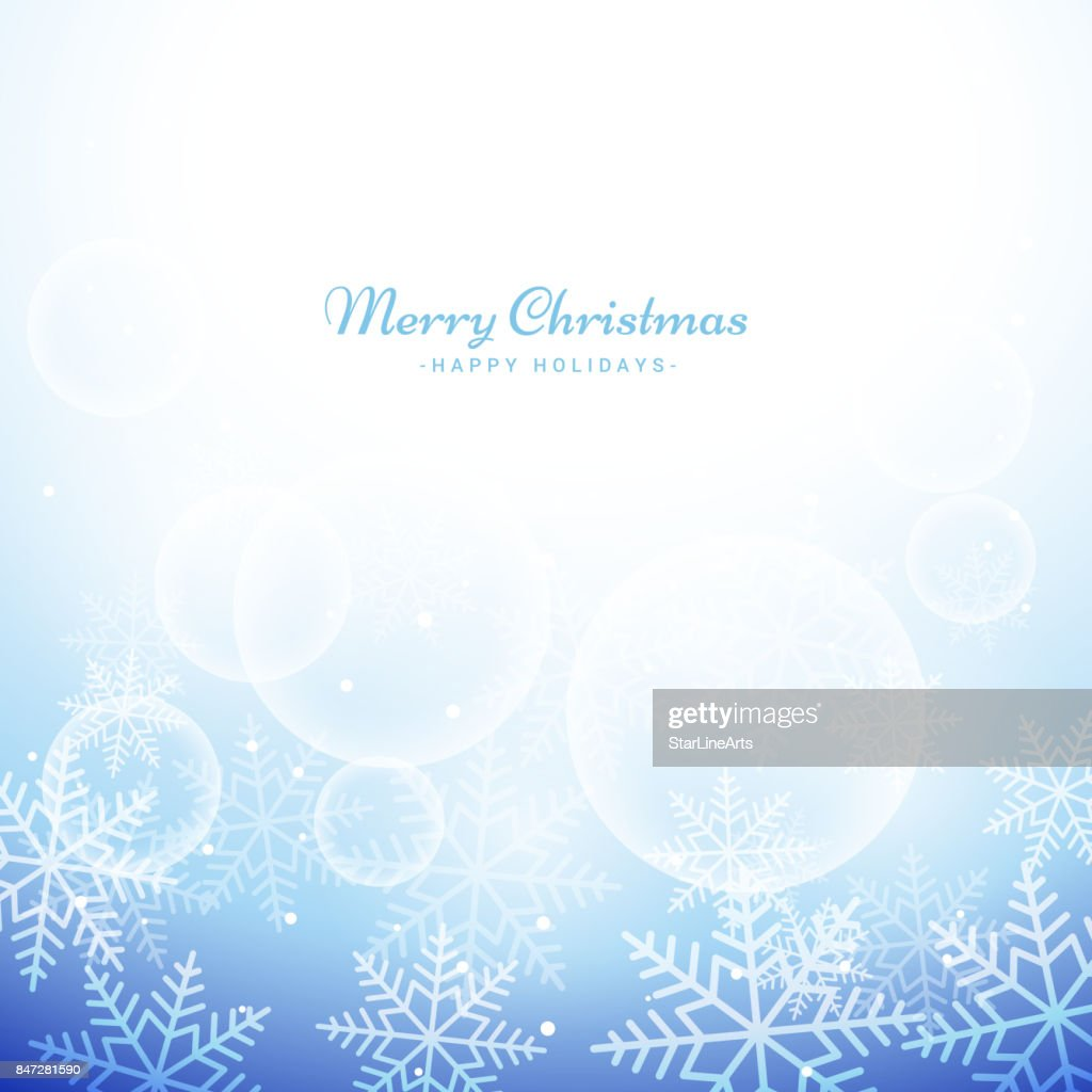 Winter Weihnachten Schneeflocken Hintergrund Vektorgrafik | Getty Images
