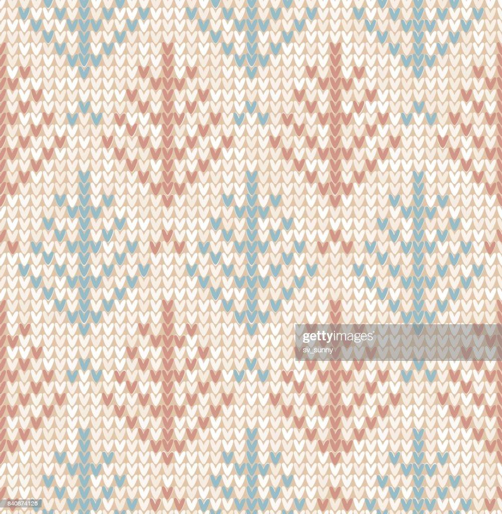Winter Christmas tree x-mas knit seamless background. Flat design.