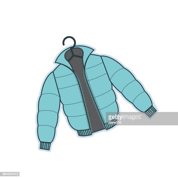 stockillustraties, clipart, cartoons en iconen met winter kleding - coat