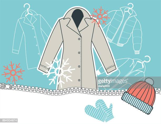 Winter Coat and Clothing Background