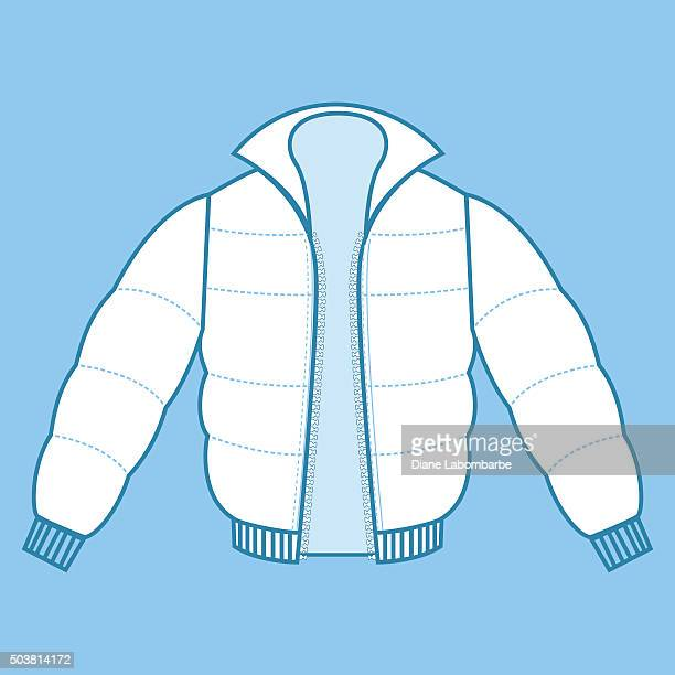 winter coat fashion flat - thick stock illustrations