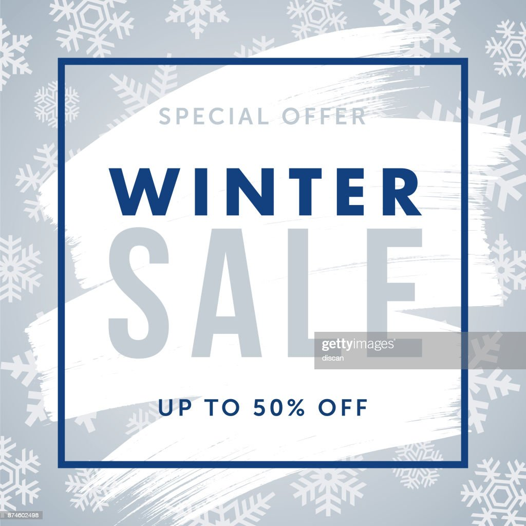 Winter design for advertising, banners, leaflets and flyers.