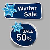 Winter discount Tag - Vector illustration