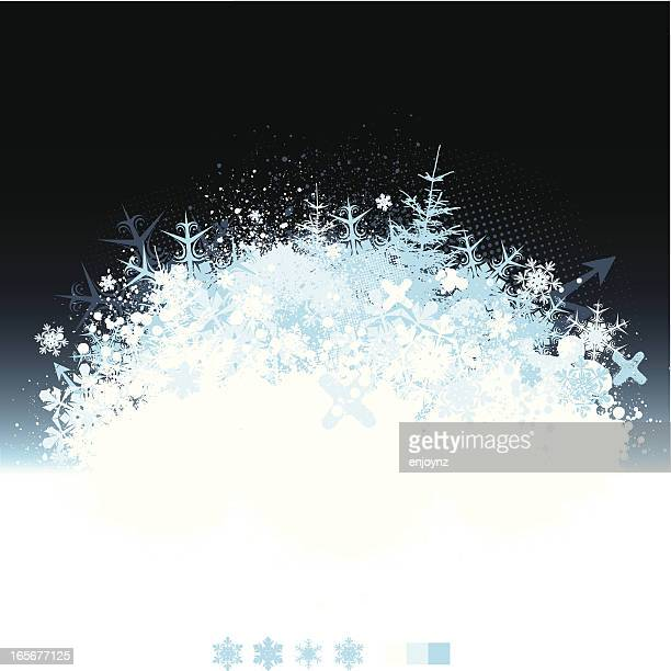winter explosion - frost stock illustrations, clip art, cartoons, & icons