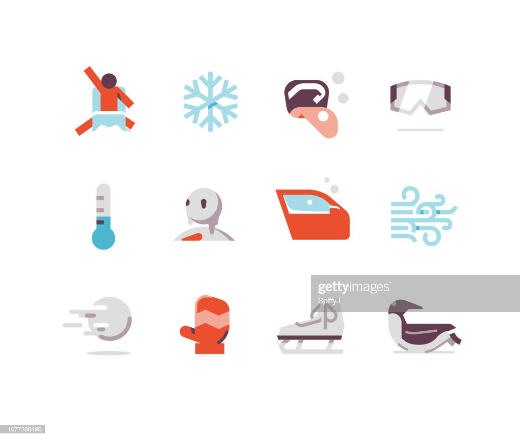 Winter Flat Icons : stock illustration