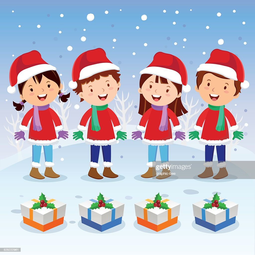Winter fun. Christmas carols.