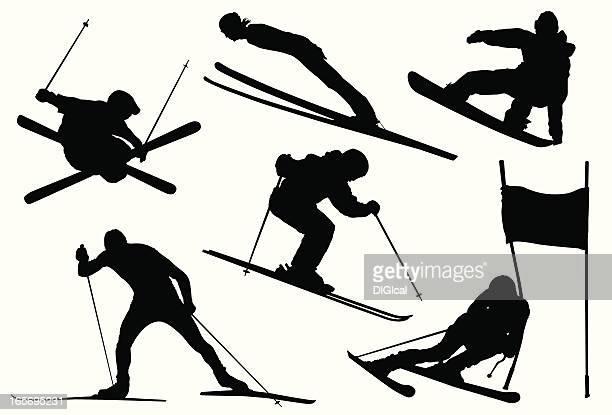 illustrations, cliparts, dessins animés et icônes de jeux olympiques d'hiver - ski alpin