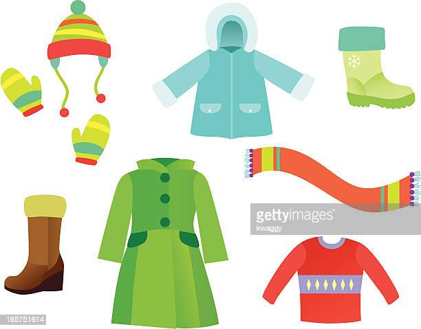 winter garments - sweater stock illustrations, clip art, cartoons, & icons